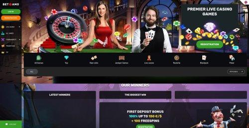 liveblackjack.nl betamo homepage screenshot