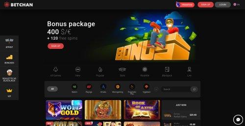 liveblackjack.nl betchan online casino screenshot