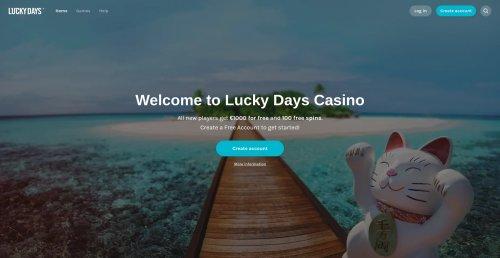 liveblackjack.nl lucky days online casino review screenshot