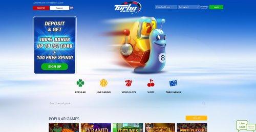 liveblackjack.nl casino review Turbo casino screenshot homepage